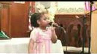 Jasmine Jackson singing solo at church in Paterson, NJ