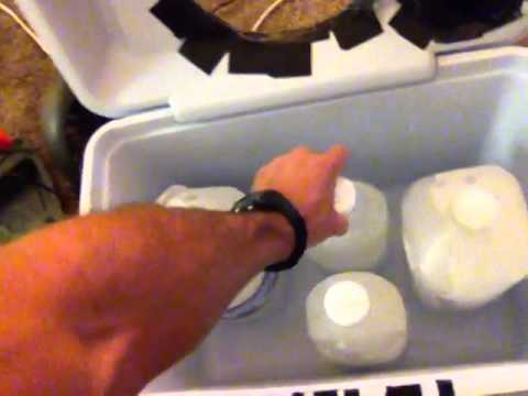 how to make a homemade air conditioner with ice