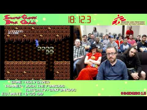 Holy Diver :: SPEED RUN (0:23:51) [NES] *Live at #SGDQ 2013*