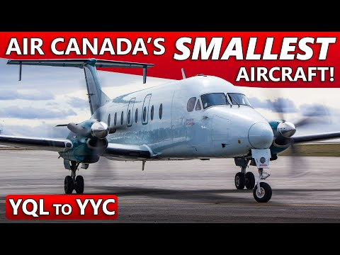 Flying The SMALLEST Aircraft In Air Canada's Fleet! Beech 1900 YQL To YYC