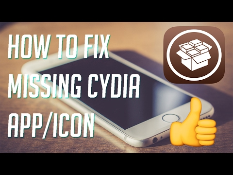 How to fix missing cydia app/icon. Works for ios 10 to 10.2