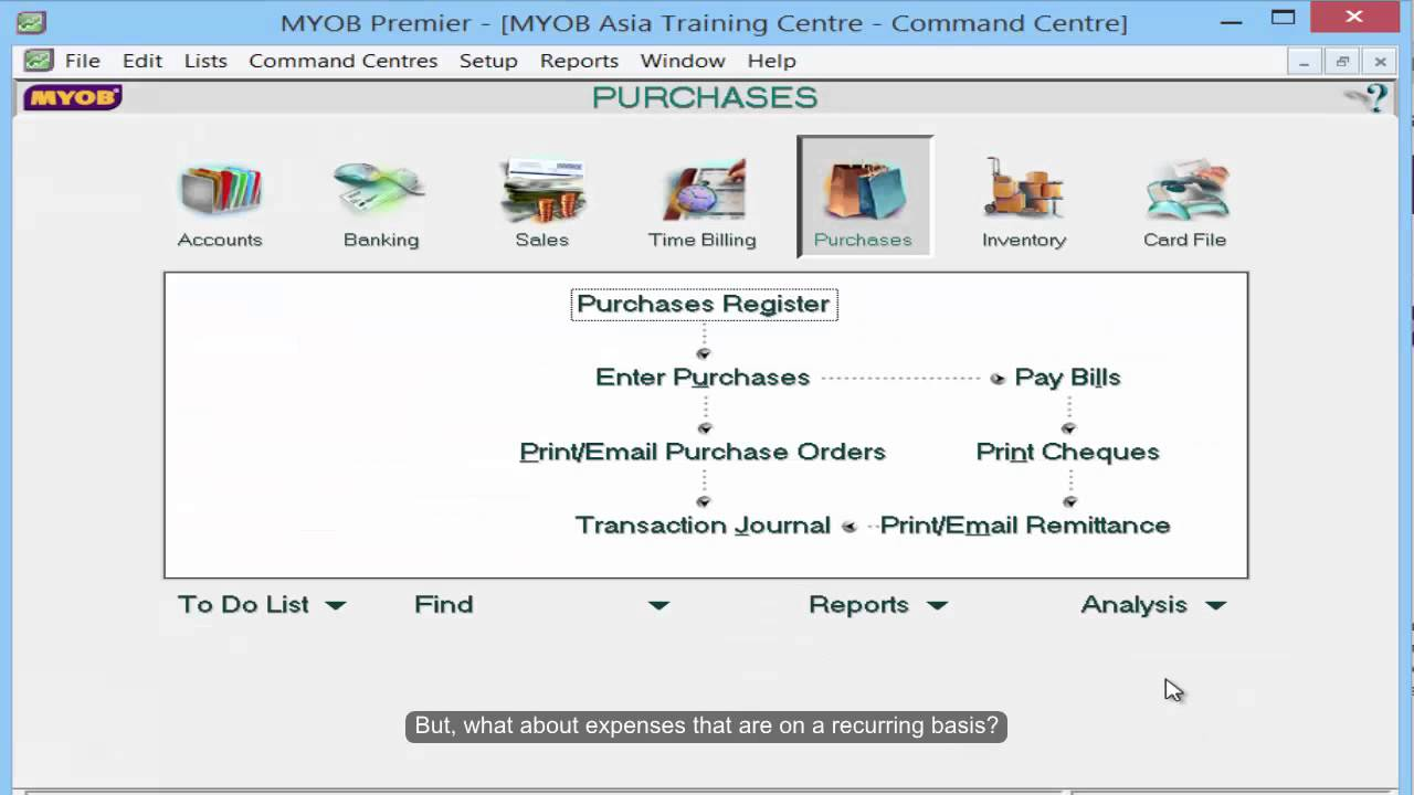 generating cash flow projection report in myob youtube