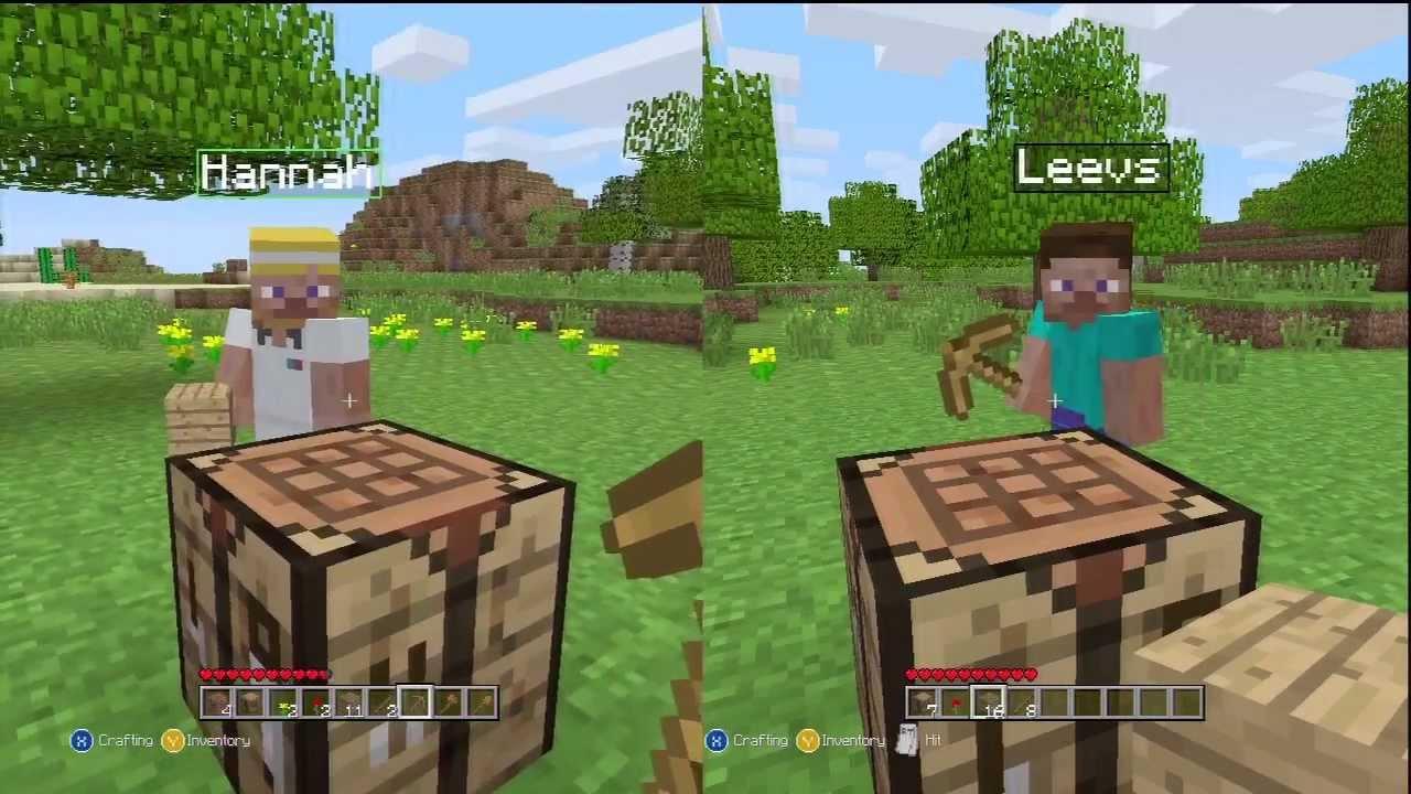 Minecraft: Xbox 122 Edition (Split-Screen)  Part 12  GOING IN BLIND