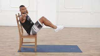 Shaun T's 3 Exercises For Flat Abs Using a Chair