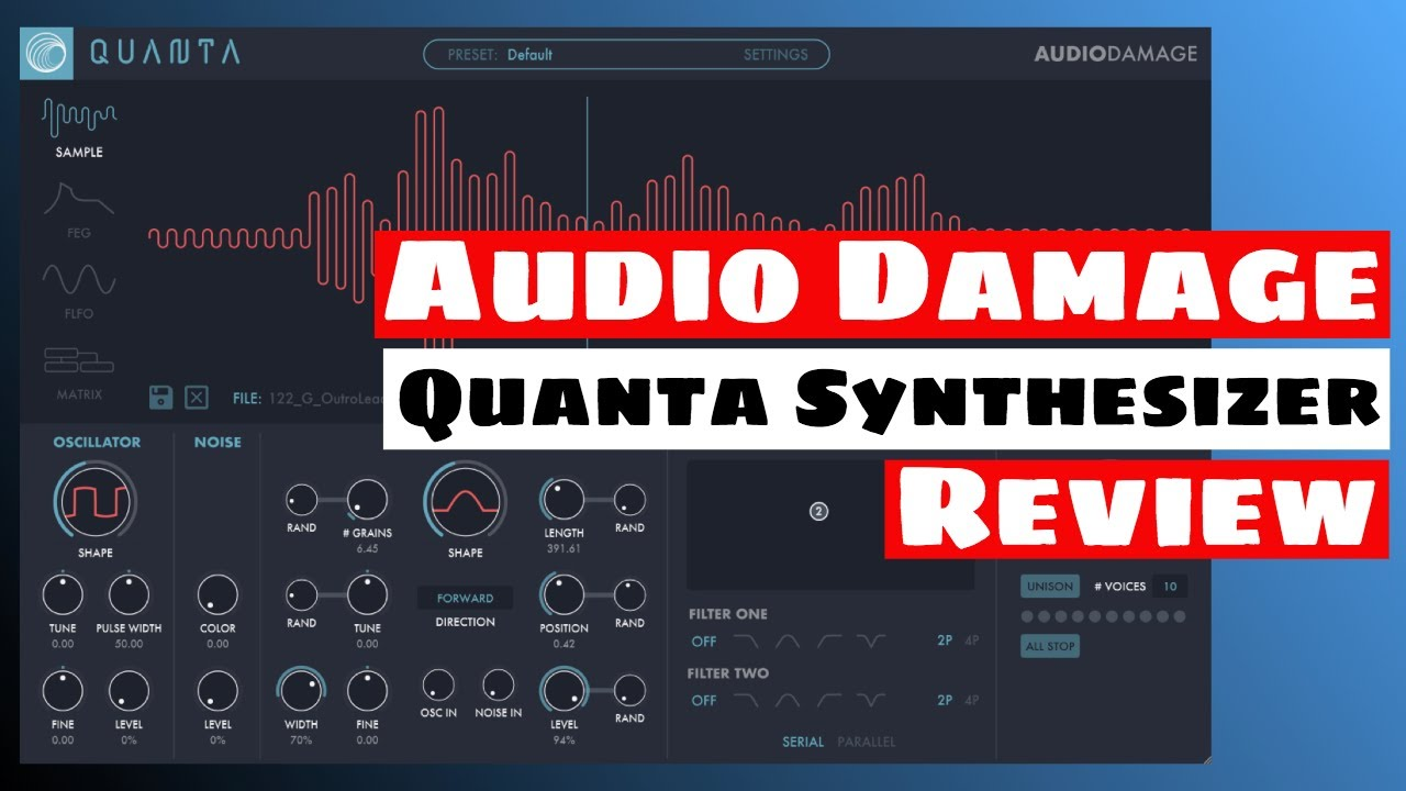 Audio Damage Released Quanta Granular Synthesizer For PC & Mac