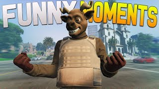 GTA 5 Online Funny Moments - Jetpack, Police Officer Chase, Minecraft Sounds!