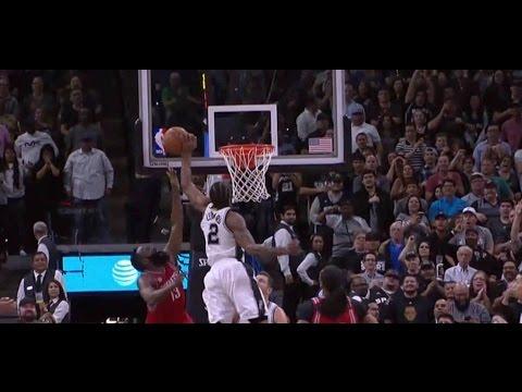 Kawhi Leonard Hits 3 pointer and Blocks James Harden | Spurs vs Rockets | 3/6/17