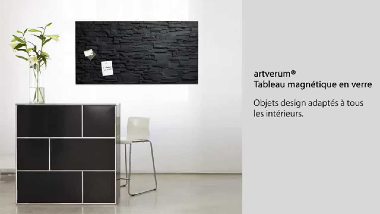 tableau magn tique en verre 39 39 artverum 39 39 130 x 55 cm. Black Bedroom Furniture Sets. Home Design Ideas
