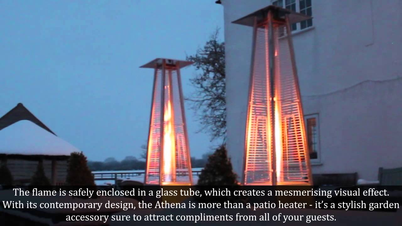 Athena Stainless Steel Gas Patio Heater At Www.gardenfurniturecentre.co.uk    YouTube
