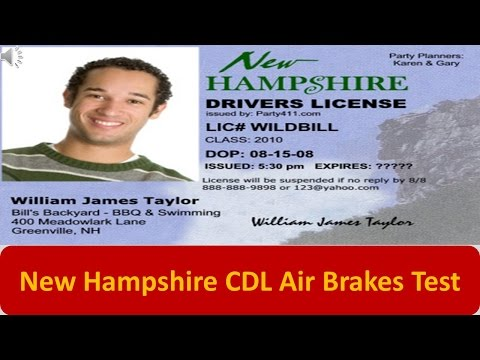 New Hampshire CDL Air Brakes Test
