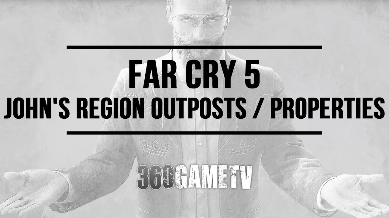 Far Cry 5 Cult Outposts Cult Properties Locations In John S Region Holland Valley Map Video Youtube