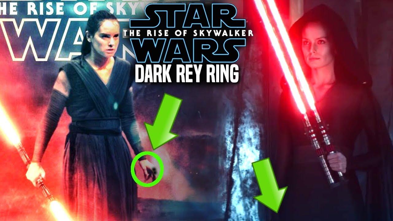 The Rise Of Skywalker Dark Rey Ring Huge News Revealed Star Wars Episode 9 Youtube