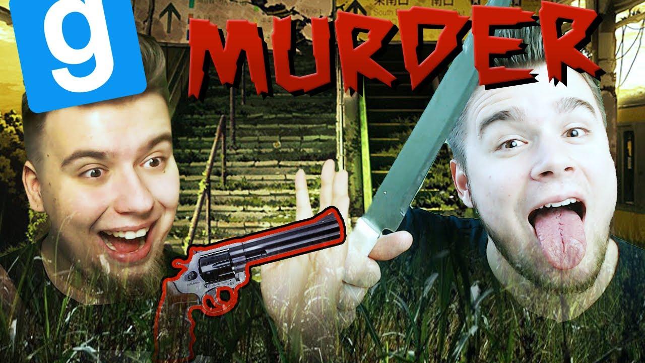 REWOLWER I NÓŻ – MANDZIO I BLADEUSZ!   Garry's mod (With: EKIPA) #751 – Murder [#44]