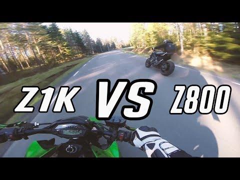 Z1000 VS Z800E Chasing Each Other - Paddan91