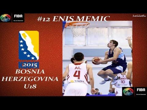 Enis Memic 2015 Bosnia and Herzegovina U18 European Championship