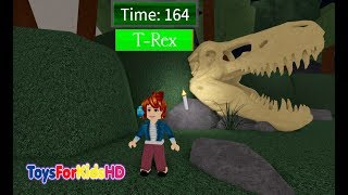 ROBLOX DINOSAUR HUNTER - PLAYING ROBLOX DINOSAURIOS - DINOSAUR GAMES FOR CHILDREN