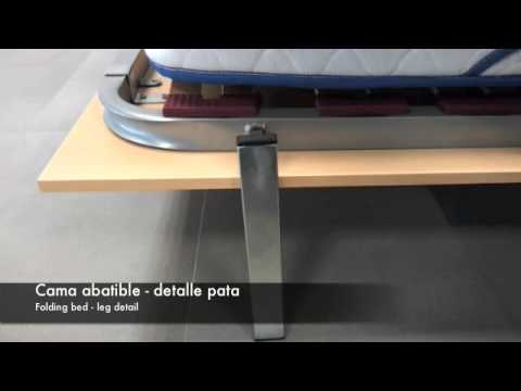 Abain detalle pata cama youtube - Construir cama abatible ...