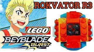 Бейблэйд Берст з Лего Робимо вовчок Roktavor R3 Показові битви з іншими Lego BeyBlade Burst G