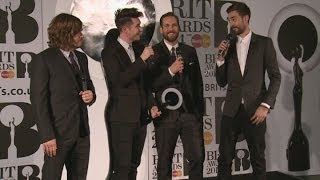 Brits 2014 Winners Room: Bastille joke about retiring after winning British breakthrough act