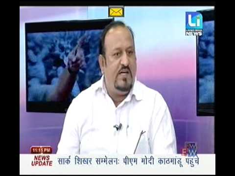 debate of raj manro press reporter on living india