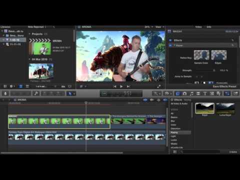 Зеленый экран (хромакей) в Final Cut Pro X - Как это делается