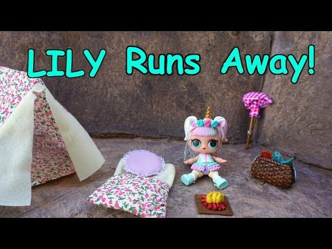 LOL SURPRISE DOLL Lilly Runs Away!