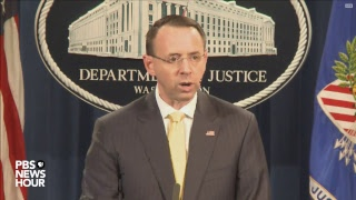WATCH: Deputy AG Rosenstein discusses indictment of Russians for 2016 election meddling