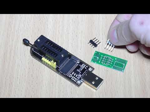 Программатор CH341A Pro Тестирование и снятие дампа