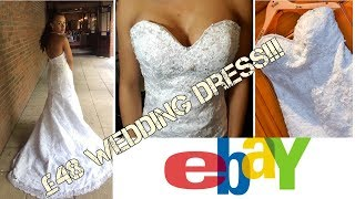 MY £48 EBAY WEDDING DRESS| Try on, full review and alterations