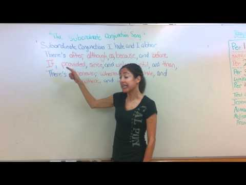 SUBORDINATE CONJUNCTIONS PART 1