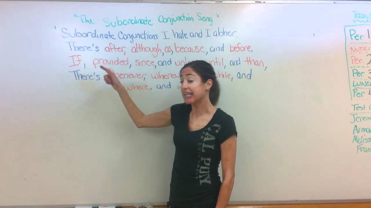 Song to learn conjunctions