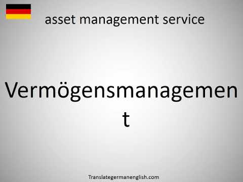 How to say asset management service in German?