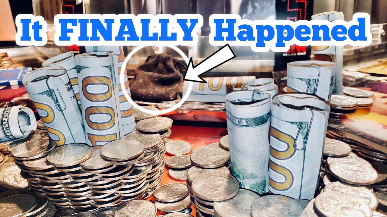 IT FINALLY HAPPENED Inside The High Limit Coin Pusher Jackpot WON MONEY ASMR
