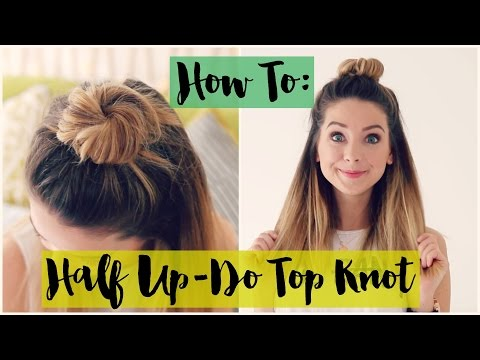 How To: Half Up-do Top Knot | Zoella ad