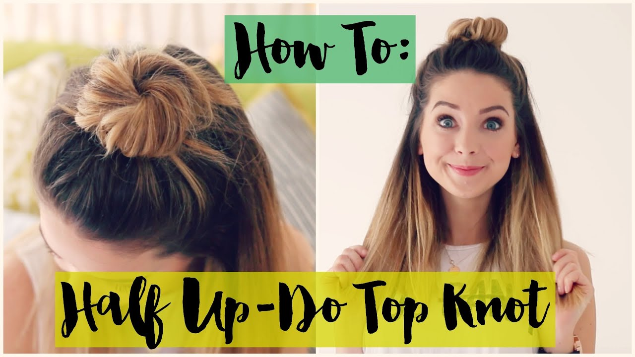 How To Half Up do Top Knot