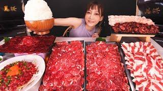 【大食い】超高級馬肉を4キロ食べる!大トロ,霜降り馬刺し,ユッケをごはんにのせて作る贅沢の極み丼が幸福すぎる [馬桜]グランドキリン IPA[7kg]10000kcal【木下ゆうか】