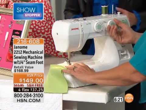 Janome 400 Mechanical Sewing Machine With 40040 Seam Foot YouTube Beauteous Janome Sewing Machine 2212