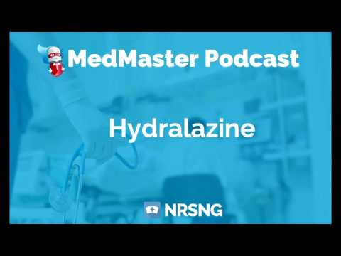 Hydralazine Nursing Considerations, Side Effects, And Mechanism Of Action Pharmacology For Nurses