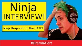 Ninja INTERVIEW ! #DramaAlert Ninja responds to the Hate over banned Fortnite Player! thumbnail