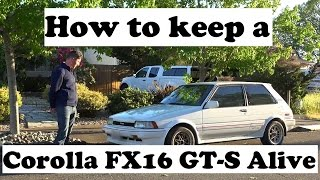 What it takes to keep a 1987 Corolla FX16 GT-S (AE82) alive