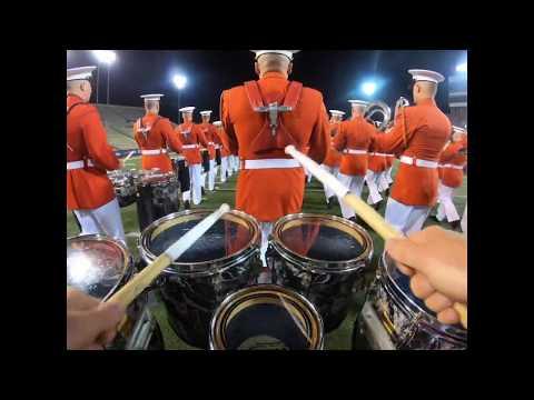 USMC Drum Corps 2019 DCI NightBEAT || Tenor Cam