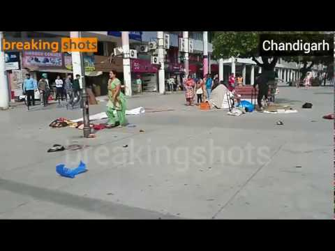 Fight between vendors in Chandigarh sector 17
