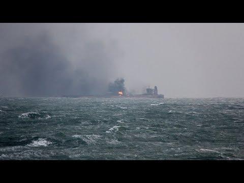 Oil tanker still ablaze 5 days after collision off Shanghai coast