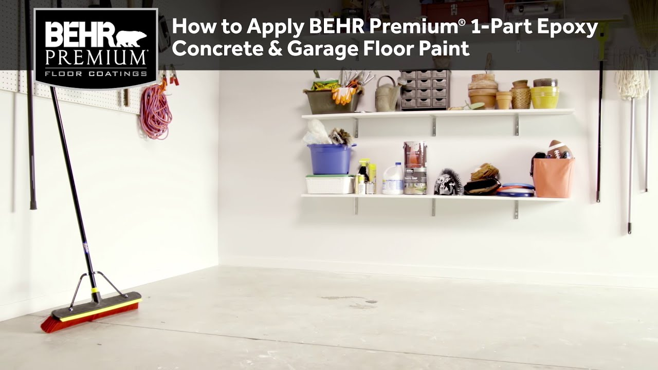 Garage Floor Coating Tucson Cost How To Apply Behr Premium 1 Part Epoxy Concrete Garage Floor Paint