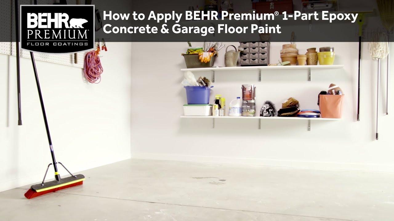 How to Apply BEHR Premium® 1-Part Epoxy Concrete & Garage Floor Paint