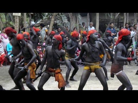 Strange Dance at Charak festival in  Halisahar West Bengal India