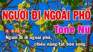 Karaoke Người Đi Ngoài Phố Tone Nữ Nhạc Sống   Trọng Hiếu