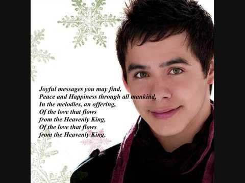 David Archuleta - Melodies Of Christmas + (Lyrics) - YouTube