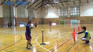 球技「ベースボール型 ソフトボール(ティーボール)」並びアウトゲーム(レベル2)