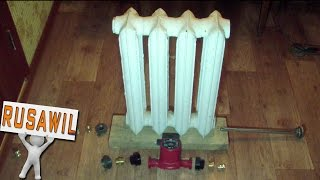 Автономное отопление своими руками. Экономный котел из батареи для теплого пола